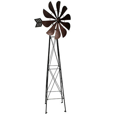 Cattle Station Windmill Metal HUGE Over 6 Foot |  Windmill with weather vane
