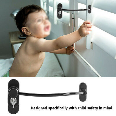 Kid Safety Window Restrictor Lock Door Child Proof Security Chain Wire Cable AF