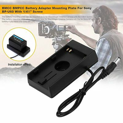 """BMCC BMPCC Battery Adapter Mounting Plate For Sony BP-U60 With 1/4\"""" Screw EM"""