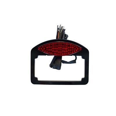 RWD Tailight Cats Eye LED w/Turn Signals & License Plate Blk