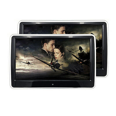 """2 Headrest Monitors Android 10.6"""" HD Car Headrest Player With WIFI/SD/TFT Screen"""