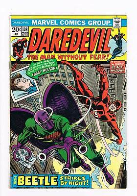 Daredevil # 108 Cry....Beetle ! grade 8.0 scarce book !!