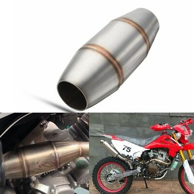 Universal Motorcycle Exhaust Pipe Muffler Expansion Chamber Stainless Steel 38mm