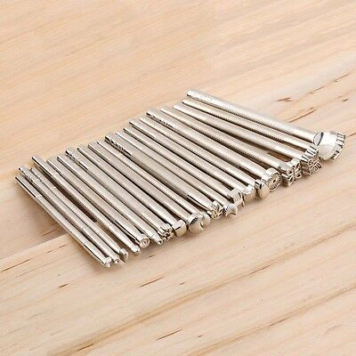 20pcs/Set Leather Working Saddle Making Tools Carving Leather Craft Stamps YF