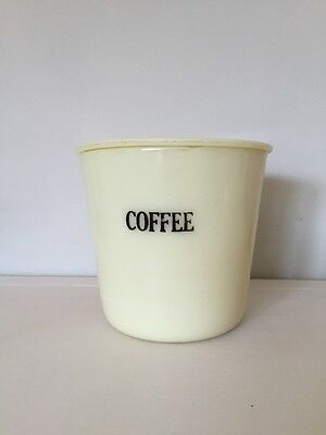 McKee Custard Glass Coffee Canister With Lid