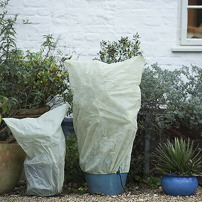 2 Pack GARDEN PLANT WARMING JACKET Frost Protection Fleece Covers Shrubs NEW