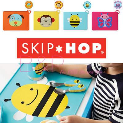 SKIP HOP Zoo Fold & Go Portable Child Toddler Childrens Food Silicone Placemat