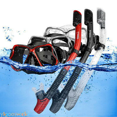 New Snorkel Mask Scuba Goggles Gear Swimming Diving Dry Snorkeling Set for GoPro