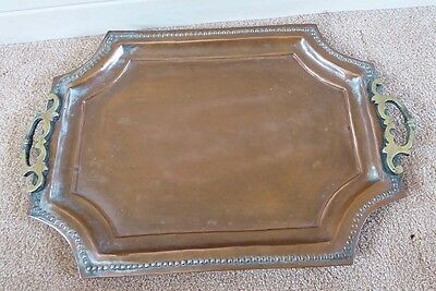 VINTAGE COPPER/BRASS TRAY - PAKISTAN 1940s (#11814275)