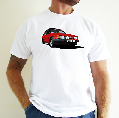 Ford Fiesta Xr2 Car Art T-Shirt. Personalise It!