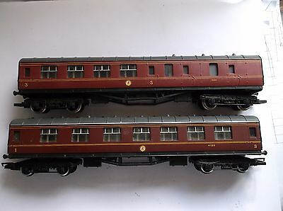 HORNBY.2x L.M.S.COACHES.UNBOXED.