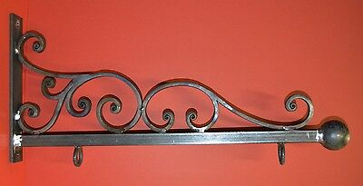 Wrought Iron Scroll Sign Bracket, Holder, 26 in., by Worthington Forge in USA