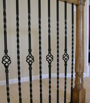 5X Balusters/balastrade/spindles/staircase Wrought Iron Bespoke Black Finish