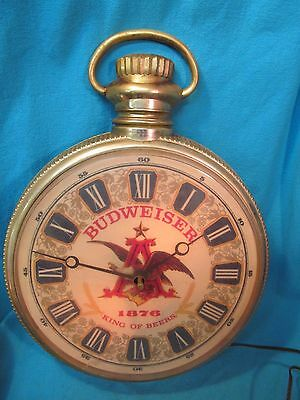 Budweiser Wall Mount Grandfather Pocket Watch Clock
