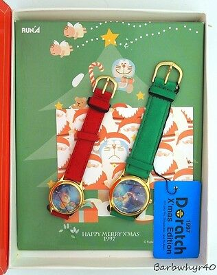 Doratch Doraemon Christmas Limited Edition Cartoon Character Watch Set in Box