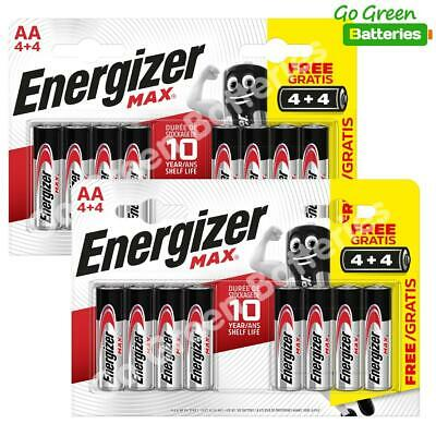 16 x Energizer AA MAX Alkaline Powerseal Batteries LR6 MN1500 MIGNON 2026 Expiry