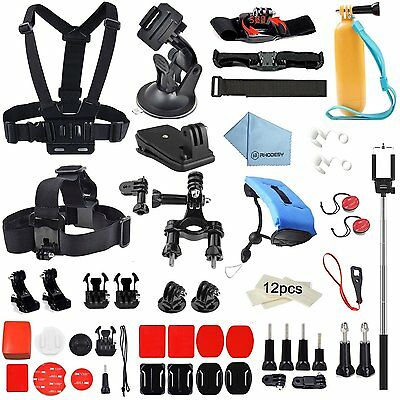 GoPro 60in1 Accessories Kit for Hero 5/4//3/2/1 Action Cameras - 60 Attachments