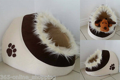 NEUF PETIT CHAT CHATON duveteux Grotte lit maison igloo COUCHAGE