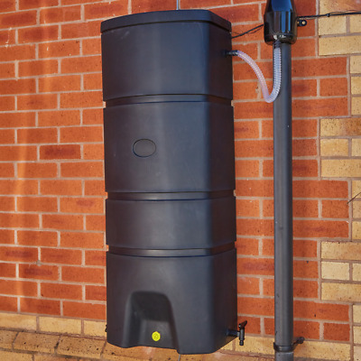 160L Litre Slim WALL MOUNTED WATER BUTT Space Saving Rainwater Tank Collector