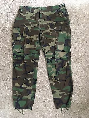 Men's Military Combat Hot Weather Woodland Camo Pants Trousers X-Large Long #C32