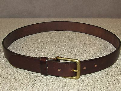 Vintage GAP Brown Bridle Leather Jeans Belt Size 32
