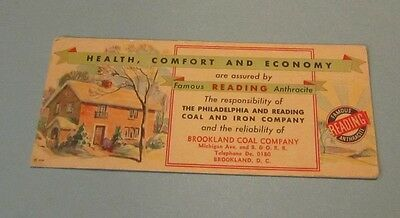 1932 Brookland Coal Company Advertising Blotter Reading Anthracite Washington DC