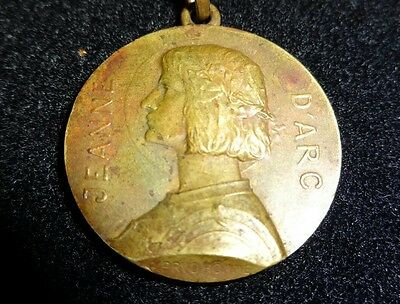 Antique Rare Georges Henri Prudhomme Religious Icon Joan Of Arc Medallion