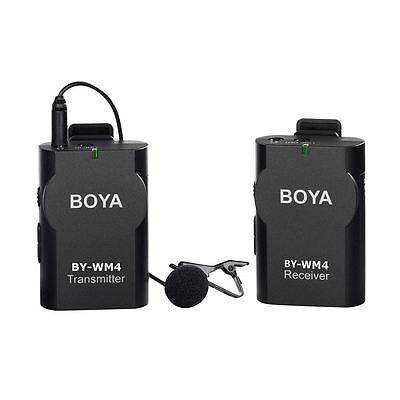 BOYA BY-WM4 Professional Universal Wireless Lavalier Microphone System for DSLR