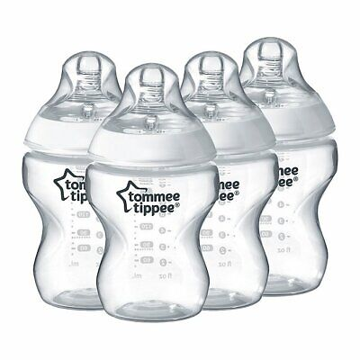 New 6x Tommee Tippee 260ml 9oz Feeding Bottles Night  Girls BBA FREE