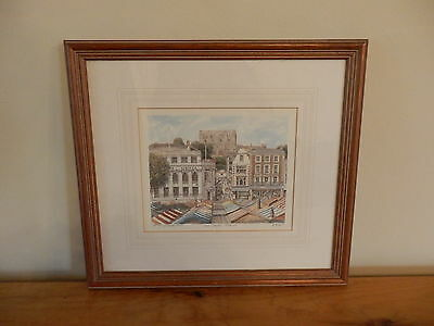 Philip Martin Framed Limited Edition Print The Castle Norwich Watercolour