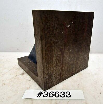 "Plain Webbed Right Angle Plate 6""x6""x6"" 53/64"" thick cast iron (Inv.Inv.36633)"
