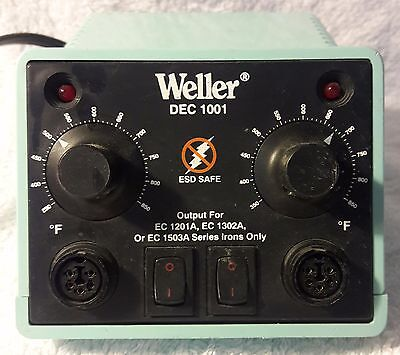 Weller DEC 1001 Dual Soldering Station Only, Used