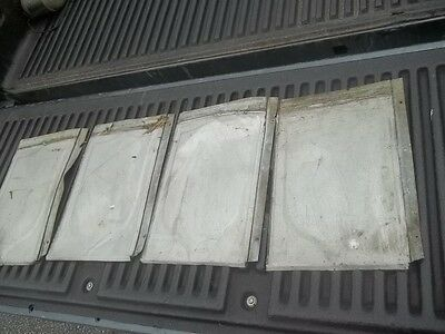 "Vintage Antique Roofing Tin Shingle Lot Shield Embossed 13 1/2"" X 9 1/2"""