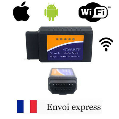 ELM327 - Interface diagnostique véhicule WIFI / PC -Android -Iphone OBD OBD2 II