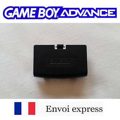 Cache pile noir black Game Boy Advance neuf [ Battery cover Gameboy GBA ]