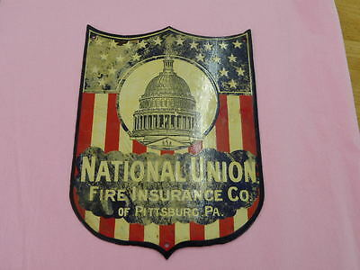 National Union Fire Insurance of Pittsburg Porcelain Sign