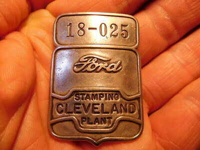 RARE original vintage CLEVELAND STAMPING PLANT factory FORD employee badge