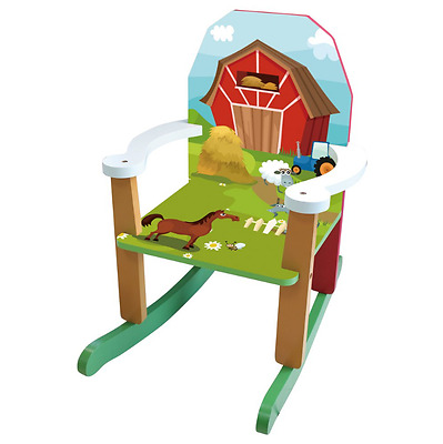 Toddler Rocking Chair Small Little Kid Child Playroom Indoor Wood Porch Girl Boy