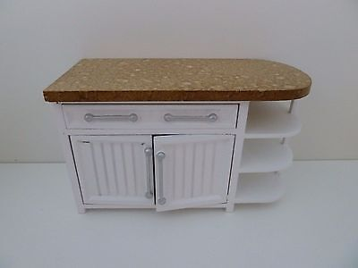 Dolls House Miniature 1:12 Scale Kitchen White Cabinet with Opening Doors T5535