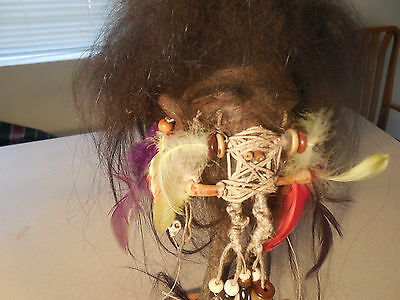 Shrunken Head 5-10 Real Skin/hair W/stand
