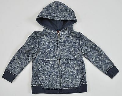 TEA COLLECTION Blue & White Zippered Hooded Long Sleeve Sweatshirt Hoodie 5