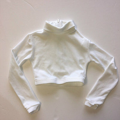 Chasse White Crop Cheer Top