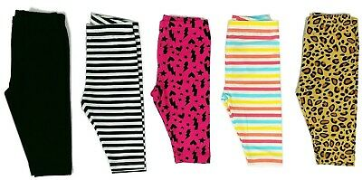 Leggings Girls Kids Capri Leg Pants Baby Toddler Printed 12 24 Months 2T- 4T- 6X