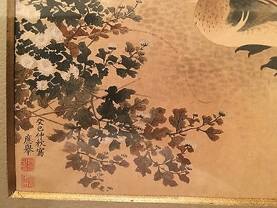 An Important Framed Antique Japanese Painting on Paper, Signed #2.