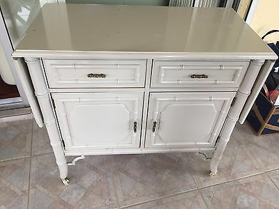 Faux Bamboo Dry Bar Chest Vintage Buffet Server Dixie Dresser Storage Cabinet