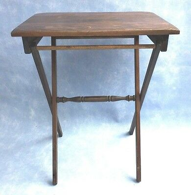 "Vintage Wood Folding Portable Coffee Table Outdoor Furniture Patio 24"" tall"