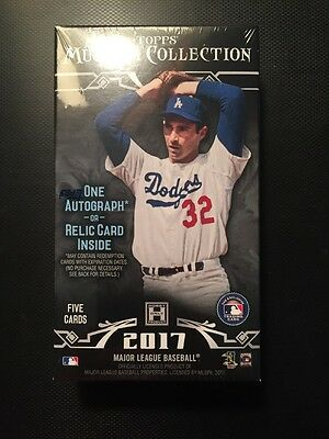 HOBBY 2017 Topps Museum Collection Baseball Sealed MINI BOX New & Unopened