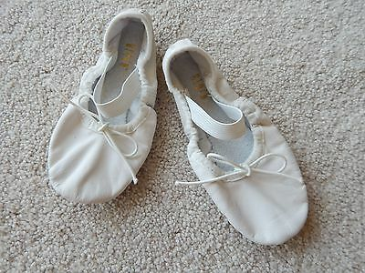 BLOCH DANCE BALLET SHOES SLIPPERS (Child Size 9C) White ~ Leather