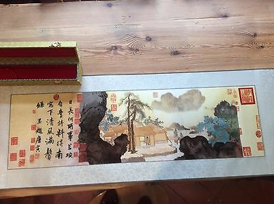 Japanese Hand Embroidered Silk Thread Picture Vgc