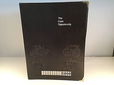 The CASE OPPORTUNITY J. I. CASE FOLDER Tractor Imprints on Cover Pocket Inside
